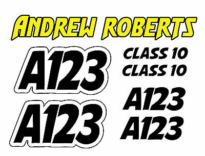 Autograss Numbers 2 Any Class Door Signs Grass Track Graphics Full Set NASA