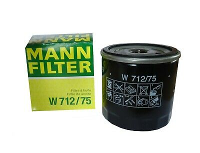 MANN Ölfilter W712/75 für Citroen, Peugeot, Renault, Ford, GM, Opel, Saab - Gm General Modul