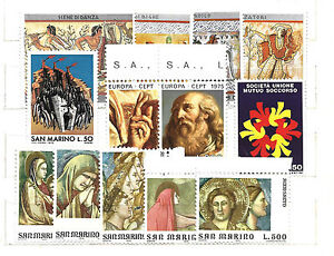 1975 -1976 SAN MARINO 5 serie nuove : CENTOMILA, EUROPA, PITT. ETRUSCA, ANNO S.. - Italia - 1975 -1976 SAN MARINO 5 serie nuove : CENTOMILA, EUROPA, PITT. ETRUSCA, ANNO S.. - Italia