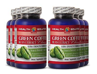 Aloe vera seeds GREEN COFFEE Purify 400mg full body detox 6 Bottles