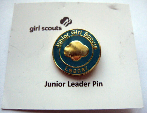 Retired Girl Scout JUNIOR LEADER PIN Adult Troop Mom Uniform Button NEW Gift!