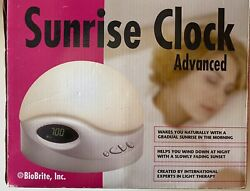 BioBrite Digital Sunrise Clock with White Noise Sound | Gradual Light Wake-Up