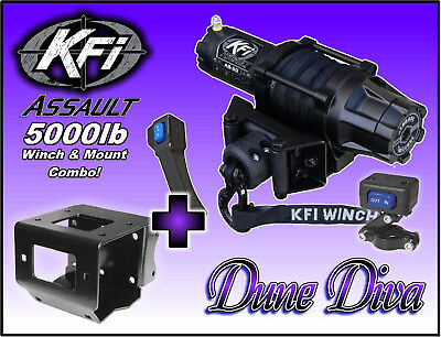 5000Lb Kfi Assault Winch Mount Combo   Yamaha Big Bear 400 2007 2012