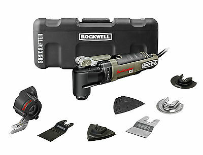 RK5140K 12pc Rockwell Sonicrafter Hyperlock w/Universal Fit Oscillating Tool Kit on Rummage