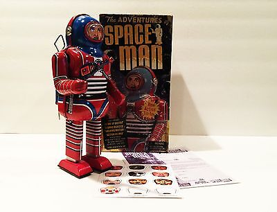BRAND NEW RARE SCHYLLING THE ADVENTURES OF SPACE MAN WIND UP TIN ROBOT