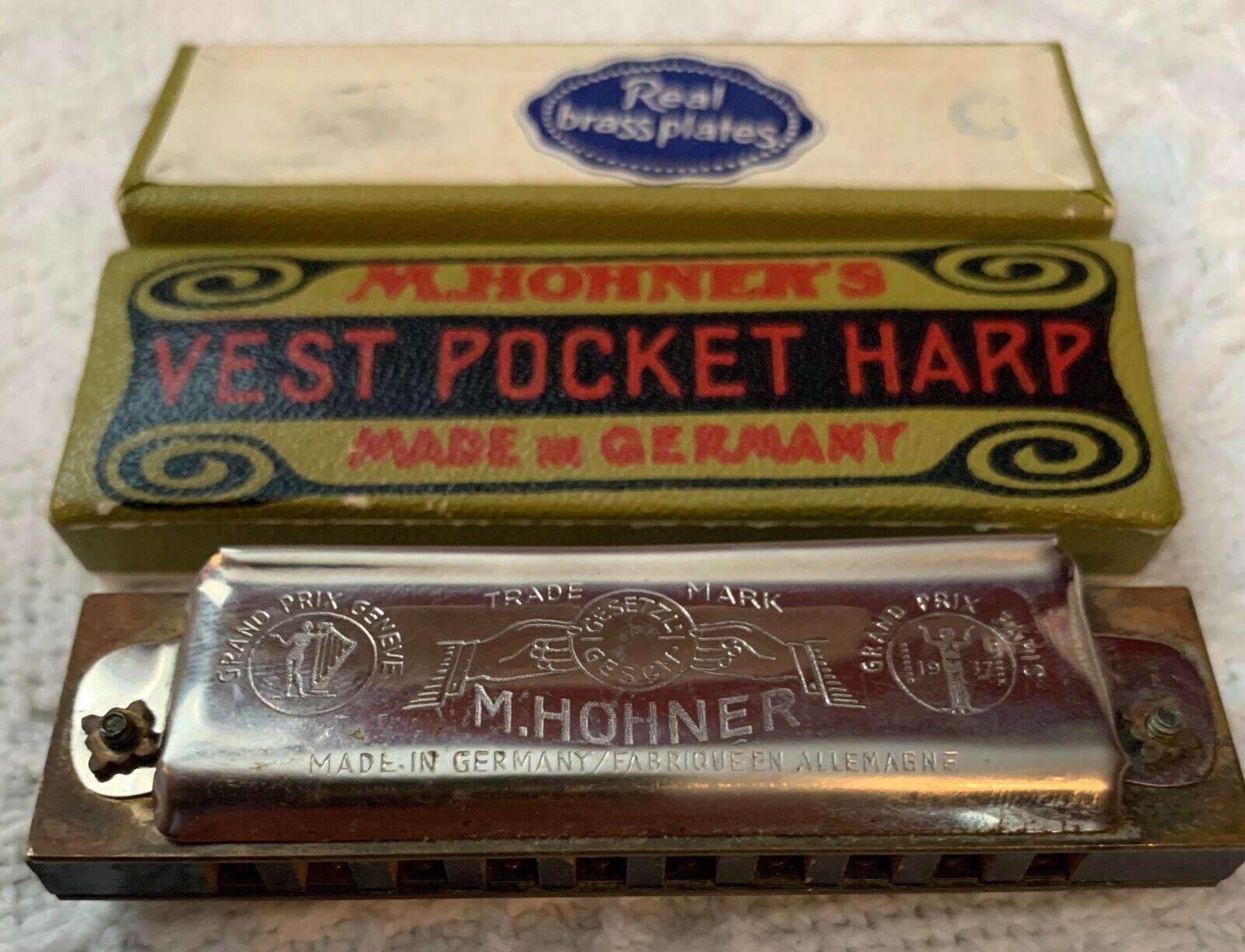 1 M. Hohner Vest Pocket Harmonica Key C - $10.00