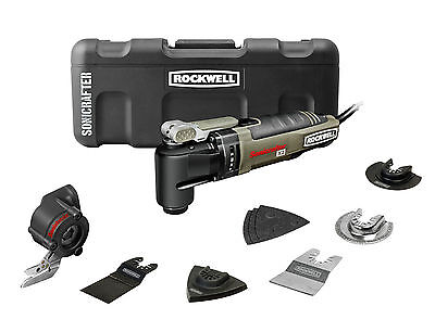 RK5140K Rockwell 12pc Sonicrafter Hyperlock w/Universal Fit Oscillating Tool Kit on Rummage