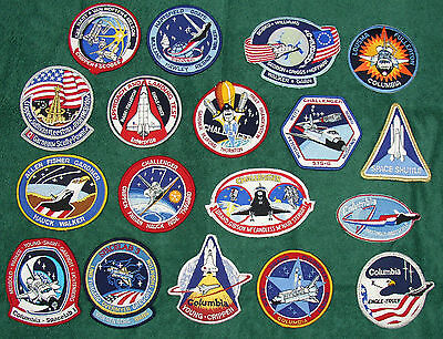 NASA  Goodrich Space Patches 18 Missions Columbia Discovery SpaceLab Challenger