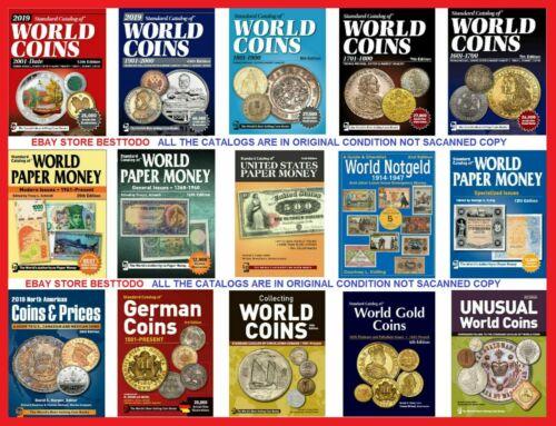 Standard Catalogs of World Coins and Paper money 15 Pcs PLEASE SEE DESCRIPTION