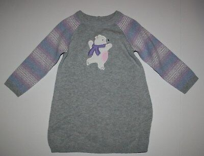 Polar Bear Sweater Dress NWT 6-12 12-18M 18-24M Cubs & Hugs (Polar Bear Skating)