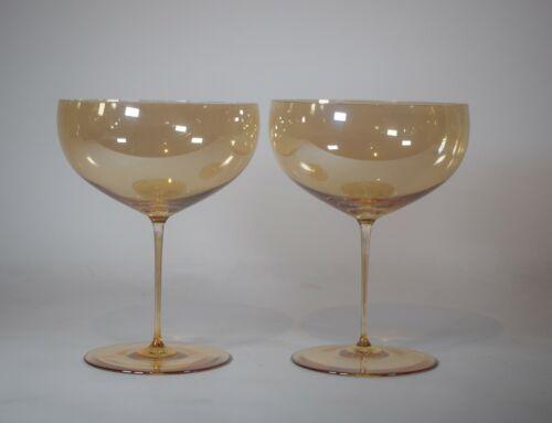 Pair of Lobmeyr Patrician Muslin Glass Supremes, Designed by Joseph Hoffman, Cir