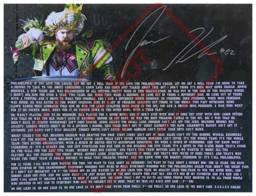 8.5x11 Autographed Signed Reprint RP Photo Jason Kelce Superbowl Speech