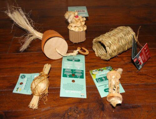 New Oxbow Rabbit Toys Chews Lot 5pc Guinea Pig Cupcake Barrel Timothy Forage Pot