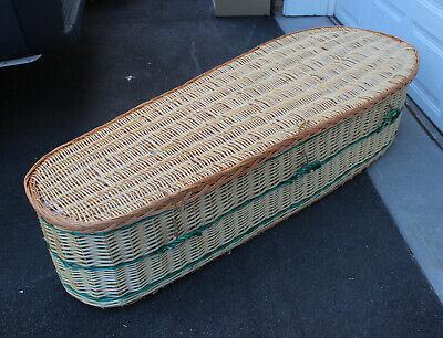 Wicker Coffin Funeral Casket