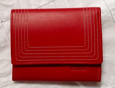 Vintage, Post Box Red Hotter Flap Over Purse, Wallet & Card Holder. Vgc