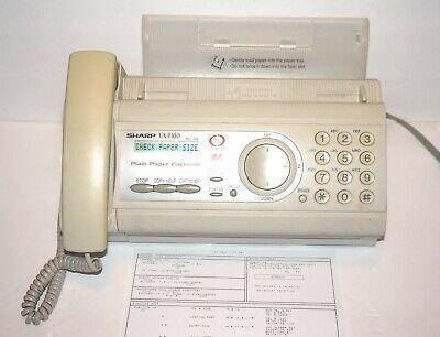 Sharp Ux-p100 Plain Paper Faxcopier Machine Read