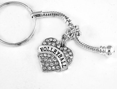 Volleyball keychain volley ball Jewelry player gift present (Volleyball Keychains)