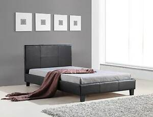 ON SALE - King Single PU Leather Bed Frame Black Melbourne CBD Melbourne City Preview