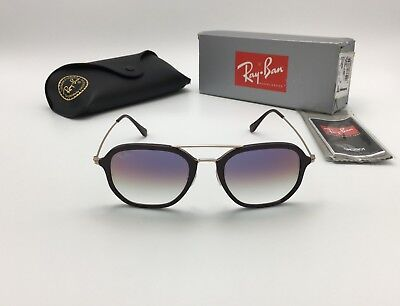 Authentic RAY-BAN RB 4273 6335S5 BROWN SUNGLASSES, VIOLET GRADIENT LENS 52MM