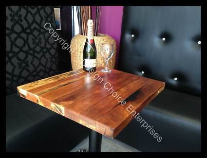 Recycled Rustic Timber Table Tops Sydney Industrial Cafe Tables