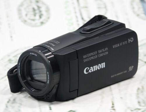 CANON VIXIA HF W10 Waterproof HD Camcorder Black #D5