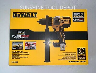 "New Dewalt DCD999B 20V Max XR 1/2"" Flexvolt Advantage Brushless Hammer Drill"