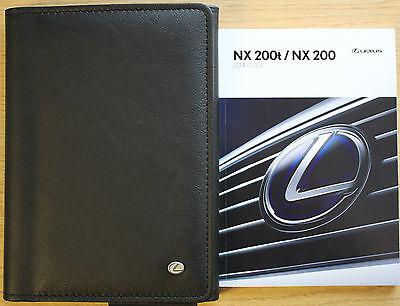 LEXUS NX 200t NX200 HANDBOOK USER GUIDE WALLET 2014-2016 PACK 9927