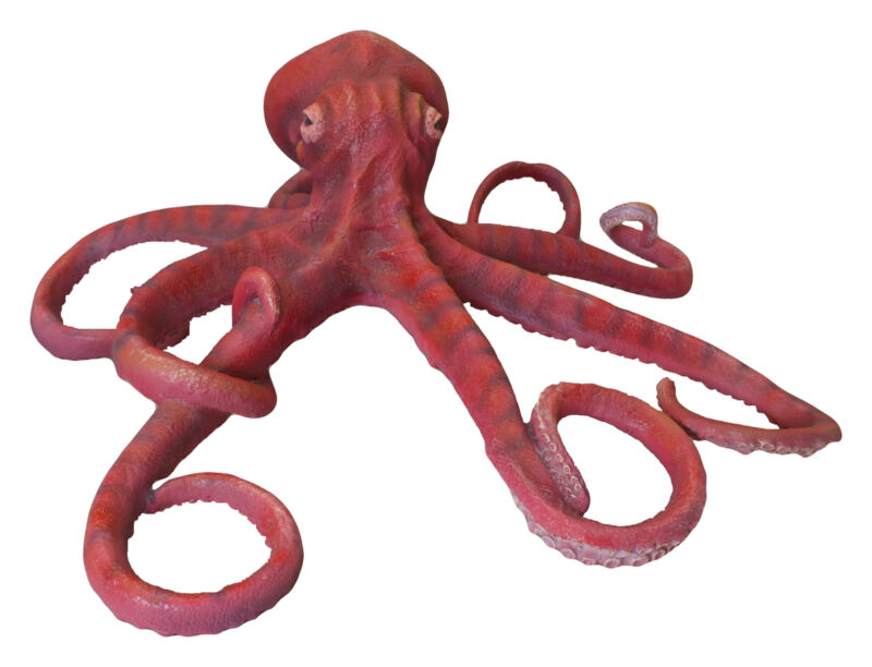 Red Octopus Large Life Size Statue 5FT