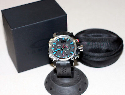 NEW OAKLEY DOUBLE TAP WATCH BLUE EDITION W/ UNOBTAINIUM BAND STAINLESS (New Oakley Watches)