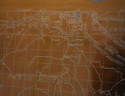 VERY RARE 1890 USGS ANTIQUE COPPER MAP PRINTING PLATE PEOSTA IA AND DUBUQUE IA