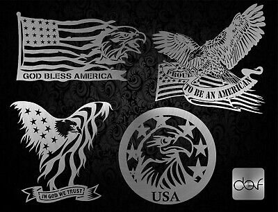 Cnc Vector Dxf Plasma Router Laser Cut Dxf-cdr Vector Files - Usa Eagle Pack