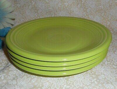 (Homer Laughlin Fiesta Set of 4 Chartreuse 7 1/4