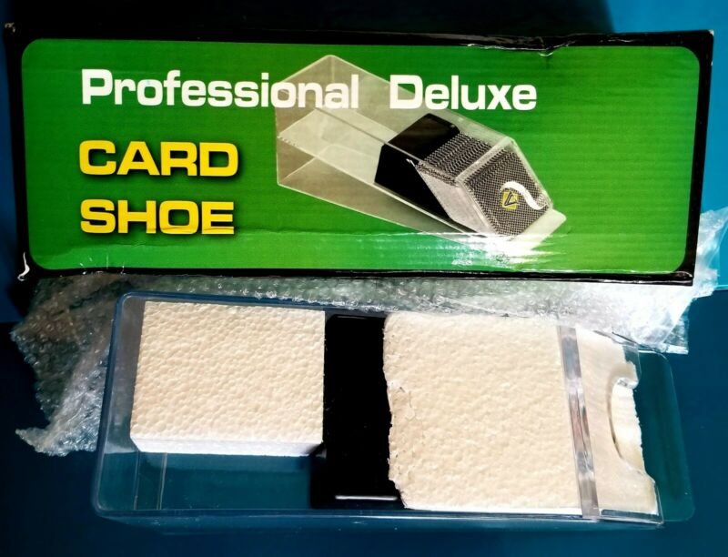 6 Deck Card Pro Dealing Shoe Dispenses Poker Blackjack Games~