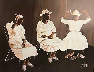 "Tom McKinney ""Amen"" Art Print African American Religious Women Church Prayer"