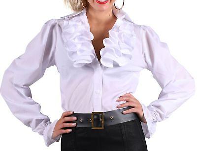 Kostüm Rüschenbluse Damen weiß Bluse Historisch Piratin Gr. - Rüschen Bluse Pirat