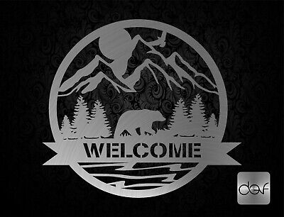 Dxf File For Cnc Plasma Router Laser Cut Dxf-cdr Svg Files - Welcome Bear Scene