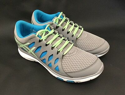 Aasics Gel Fit Tempo Gray, Ladies Size 8.5, Blue Green