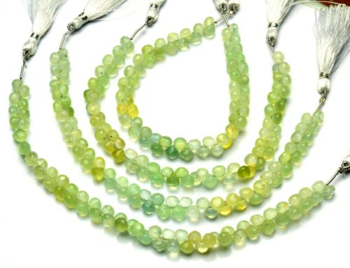 """Natural Gemstone Multi Prehnite 6mm Faceted Onion Beads for Jewelry Making 9"""""""