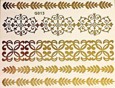 ry Klebe Tattoo Gold 5teile Armband Fuß Hals Kette Body G13 (Hals Tattoos)