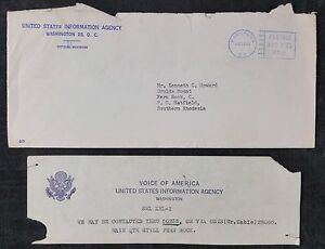 USA 1960 United States Information Agency Cover W Voice Of America Comp Slip