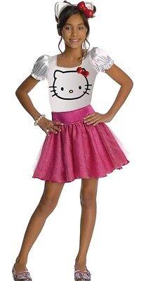 Hello Kitty Pink Tutu Retro Kids Fancy Dress Up Halloween Child Costume New - Rubies Hello Kitty Child Halloween Costume