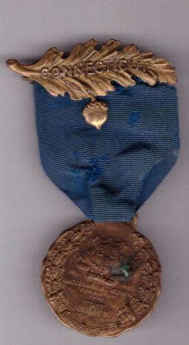 "1907 Jamestown Tercentennial Exposition Ribbon Badge Medal ""CONNECTICUT HOUSE"""
