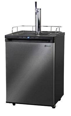 Kegco Kegerator Digital Beer Keg Dispenser Black Stainless - 1 Tap - D System