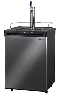 Kegco Kegerator Digital Beer Keg Dispenser Black Stainless - 1 Tap - D System