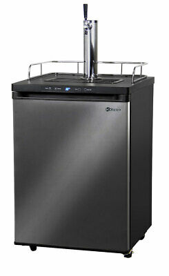 Kegco Digital Homebrew Kegerator 1 Tap Ball Lock Keg Dispenser Black Stainless