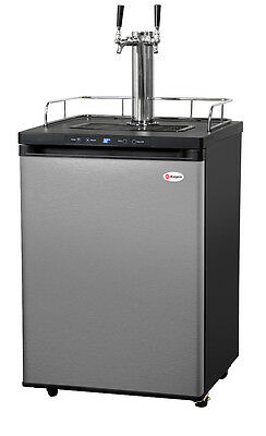 Kegerator Digital Beer Keg Cooler Refrigerator - Dual Faucet - D System