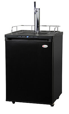 Kegco Digital Homebrew Kegerator Single Faucet Ball Lock Keg Dispenser Black