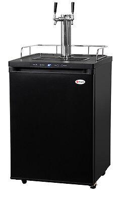 (Kegerator Digital Draft Beer Cooler Dispenser - Double Faucet - D System)