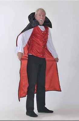Dracula Vampir Karneval Fasching Herren  Kostüm Haloween Larp 3-teilig L  FK10