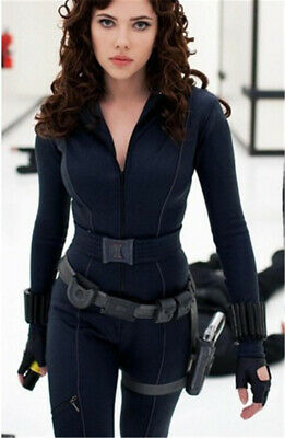 Black Widow Outfit Cosplay Costume Avengers Natasha Romanoff Jumpsuit Bodysuit
